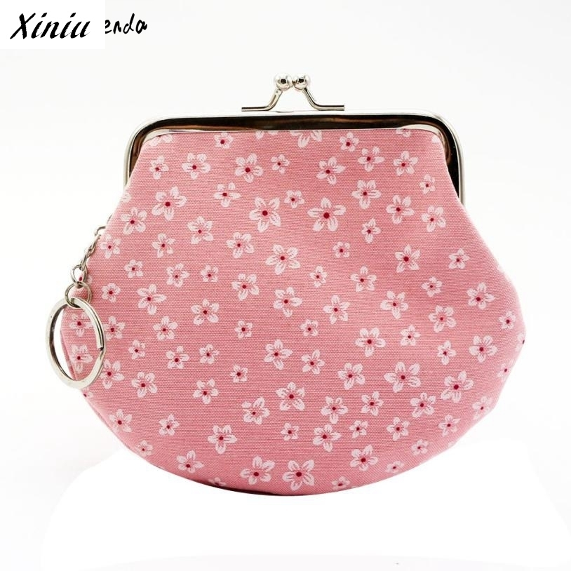 Xiniu Womens Wallets And Purses Little Cherry Printing Hasp Small Coin Purse Clutch Bag Carteira Feminina #2726