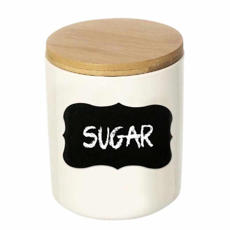 8 ชิ้น/เซ็ตสติกเกอร์กระดานดำ PVC KITCHEN CRAFT สติกเกอร์สำหรับ Jar Organizer สามารถป้าย Chalkboard ตกแต่งบ้าน JSX