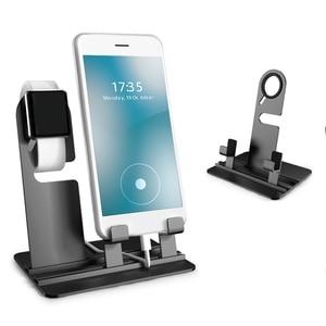 Image 2 - שולחן טלפון מחזיק, עבור אפל שעון stand 3 ב 1 טלפון מחזיק טעינת dock תחנת, שולחן בסיס עבור iPhoneX/8/7/6/ipad נייד תמיכה