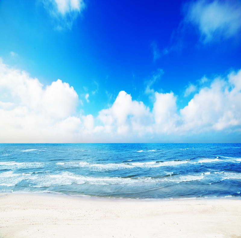 blue sky white clouds sea ocean Backgrounds Vinyl cloth High quality Computer print wall photo backdrop