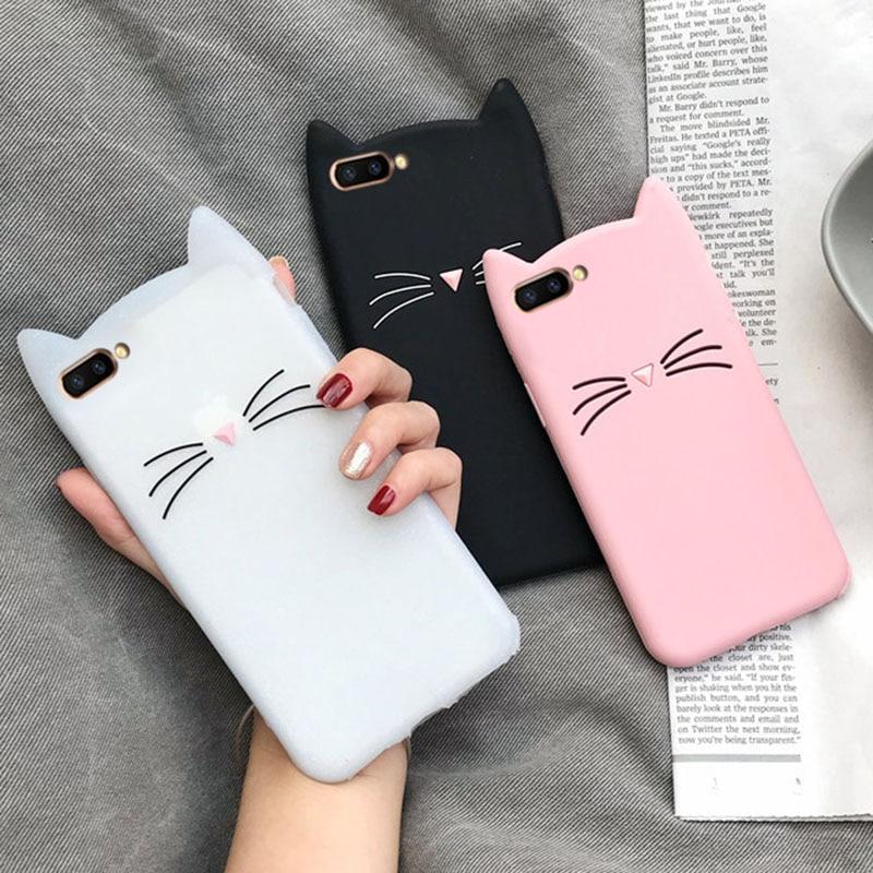 Cute Cat Case For Motorola Moto G5 G5S G6 Play E4 Plus E5 C G6plus Cartoon Kitty Silicon Cover