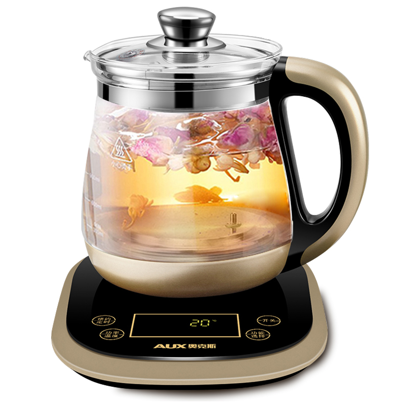 1.8L Large-capacity Health Pot Automatic Thicken Glass Multi-function Electric Health Kettle Flower Tea Pot 24 Hours Reservation electric kettle multi functional health care flower tea add thick glass pot
