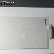 10 точек сенсорный 58 дюймов интерактивный емкостный сенсорный экран пленка через стеклянное окно магазин/боковой хвост