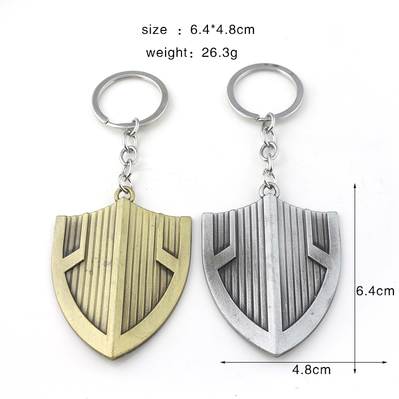 Superhero Black Panther Shield Keychains Avengers Captain America Symbol For Men Car Keyring Men Bag Accessories in Key Chains from Jewelry Accessories