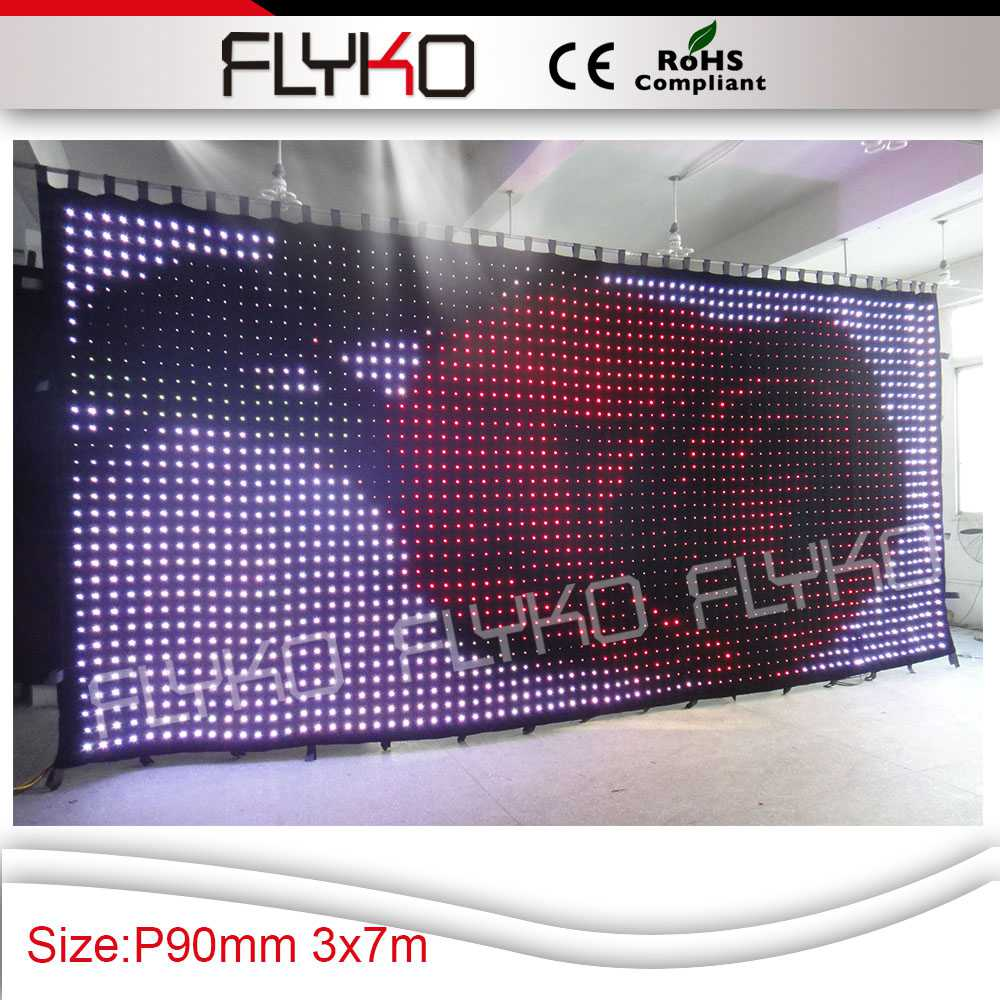 Pc Controller Led Soft Curtain Display Led Cortinas Led Video Curtain In Short Supply Free Shipping Commercial Lighting