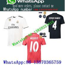 Hot 2018 2019 Real madrid soccer Jersey 2018 19 new RONALDO home white away  black BALE RAMOS ISCO KROOS 18 19 football shirts 0f1a9ce7f