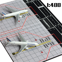1:400 Passenger Plane Large Double Parking Simulation Model Ornaments Sand Wooden Civil Aviation Boeing 777 Passenger Runway