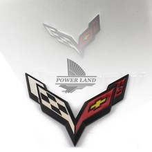 Automobiles Motorcycles - Exterior Accessories - Car Styling Metal Black Badge Emblem Decal Logo Body Sticker Top Quality Universal For Car Truck Corvette Stingray Grand Sports