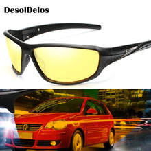 Hot Sale Men Oval Polarized Sunglasses Women Black PC Frame Sun Glasses Fashion Driving UV400 Goggles Gafas G060