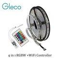 DC12V LED 4 EM 1 RGBW RGBWW TIRA CONDUZIDA 5050 60LED/m 5 M IP20 IP67 com WIFI controlador RGBW 4 cores em 1 SMD 5050 LED Strip RGBW