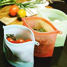 1000ml Reusable Silicone Storage Bag Food Bags For Seal Ziplock Freezer Cooking Fresh
