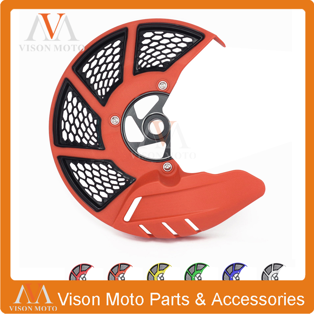Front Brake Disc Rotor Guard Cover For KTM SX SXF XC XCF EXC EXCF 125 150 200 250 300 350 400 450 500 525 530 2003-14 SMR 04-10 orange cnc billet factory oil filter cover for ktm sx exc xc f xcf w 250 400 450 520 525 540 950 990