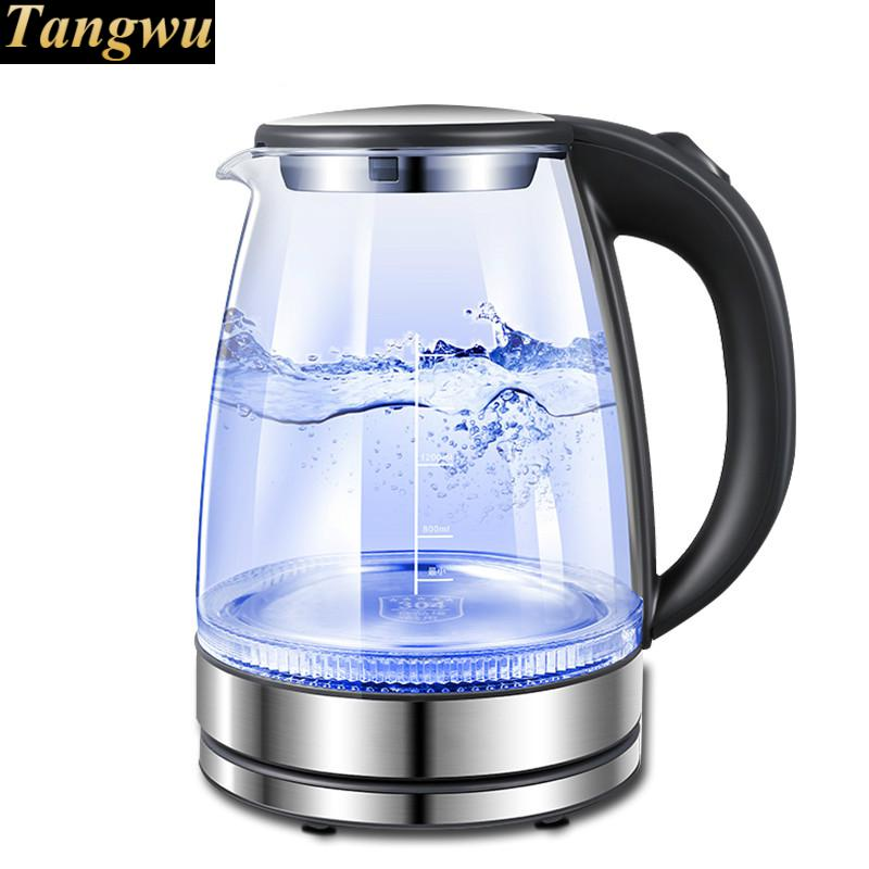 Household glass electric kettle 304 stainless steel kettles cukyi household electric multi function cooker 220v stainless steel colorful stew cook steam machine 5 in 1