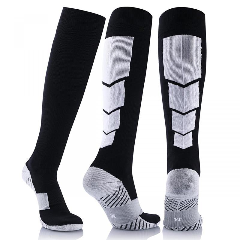 New 1 Pair Antifatigue Unisex Compression Socks Breathable Travel Activities Fit For Nurses Sportsmen Flight Travel Sport Socks