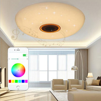 Светодиодный Bluetooth Музыка огни гостиная столовая потолок лампы смартфонов Красочные спальня детская комната ламп светодиодный свет