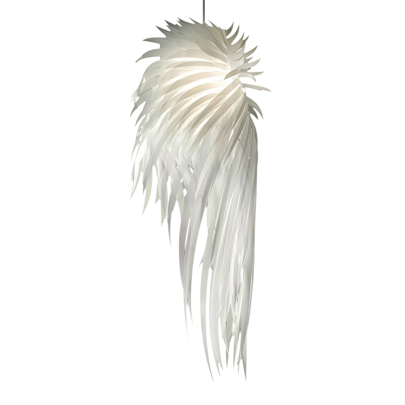 White/Pink/Yellow/Silver Angel Wings PVC Feather Pendant Lamps Vintage Modern Pendant Light Bar Room Lustre E27 110-240V PLL-767 серьги silver wings 22ae6137em9 ef5 r 148