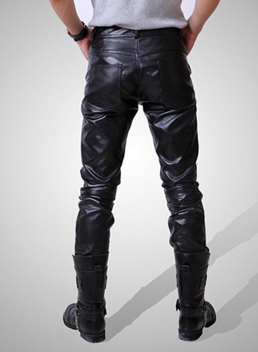 осень мужские кожаные штаны ядер версии