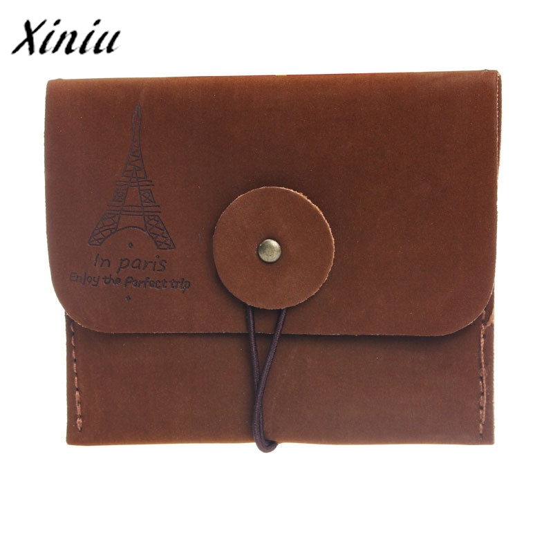 2017 Hot Sale New Retro Paris Tower Memory Unisex Coin Purse Coin Key Holder Mini Wallet Fashion Women Money Bag For Men Purse
