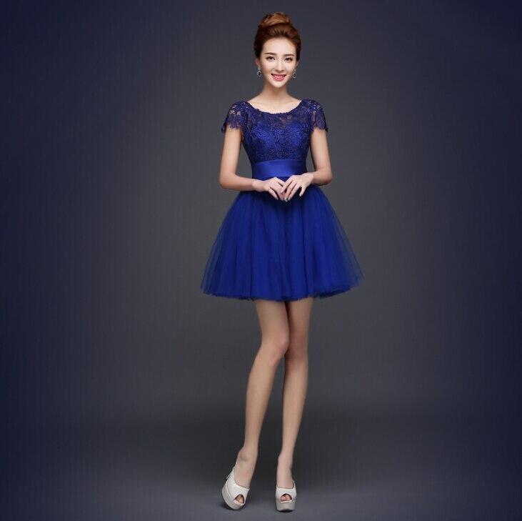 lace top royal blue bridesmaid teen cute dress party short ... - photo #14