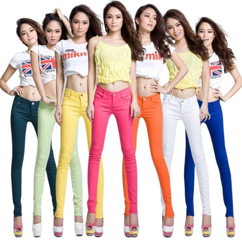 2018 Ladies High Waist Jeans Trousers Women Black White Women Pants Pencil Skinny Harem Pants Slim Elastic Pantalon Femme