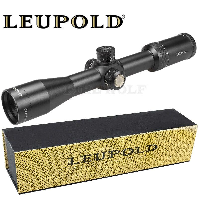 LEUPOLD 3.5-15X40 SFY Marque Fusil de Chasse de Vue Miroir Point Éclairage Côté Roue Monoculaire Collimateur