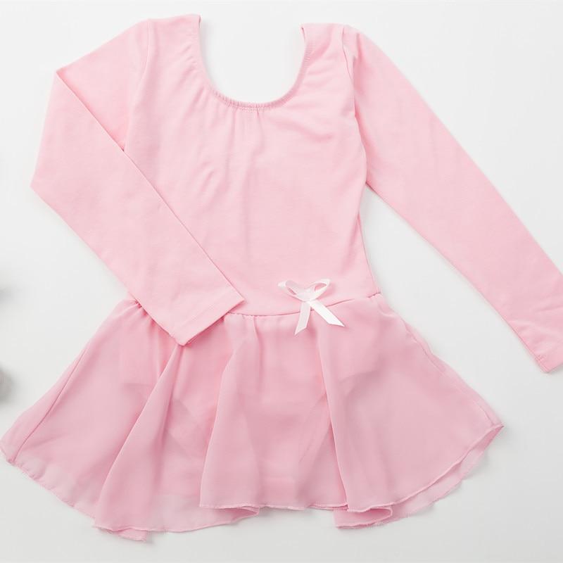 Long sleeved Spandex Gymnastics Leotard for Girls Ballet Dress Clothing Kids Dance Wear Dancing Dress Skating Dresses children