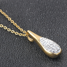 Stainless Steel Water Drop Pendant Necklaces