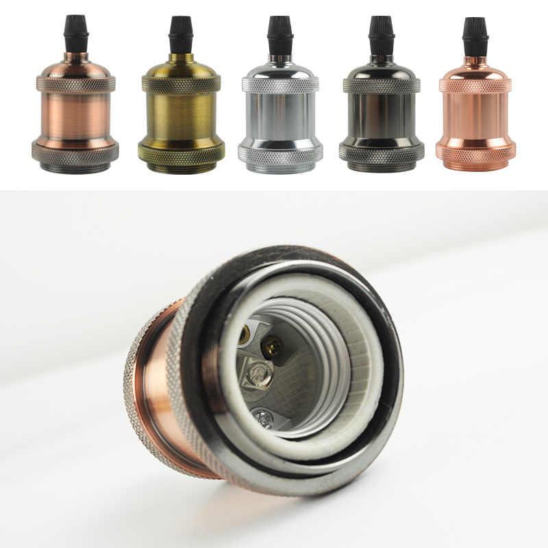 Green Eye Pendant Lamp Holder E27 Antique Screw Edison Bulb Base Aluminum Lamp Socket Industrial Retro Lamp Fittings