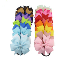 Модные цветные эластичные резинки для волос с бантом из ленты, 1 шт., 20 цветов, милые аксессуары для волос с веревкой, подарок, новинка, распродажа для детей