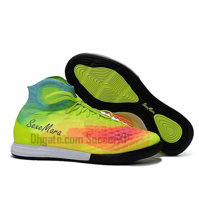 2018 chuteiras de futebol Indoor soccer shoes homens ACC IC À Prova D  Água  de 83745a76bed7c