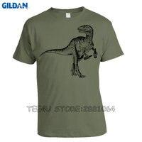 Gildan Tee4U Cool T Shirts Designs Beer Drinking Dinosaur Crew Neck Men Short Printing Machine T