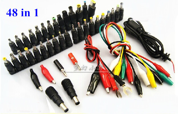 48 in 1 Universal Laptop AC DC Jack Power Supply Adapter Connector Plug for HP IBM Dell Apple Lenovo Acer Toshiba with Cable цены