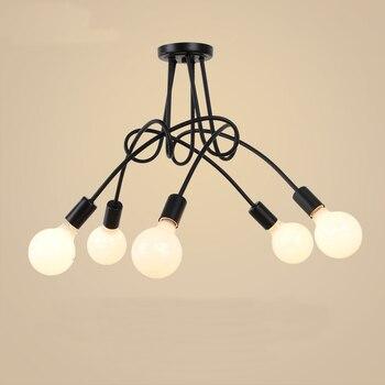 개별 크리 에이 티브 철 아트 led 천장 조명 plafond 램프 홈 거실 조명 천장 조명기구 주방 램프