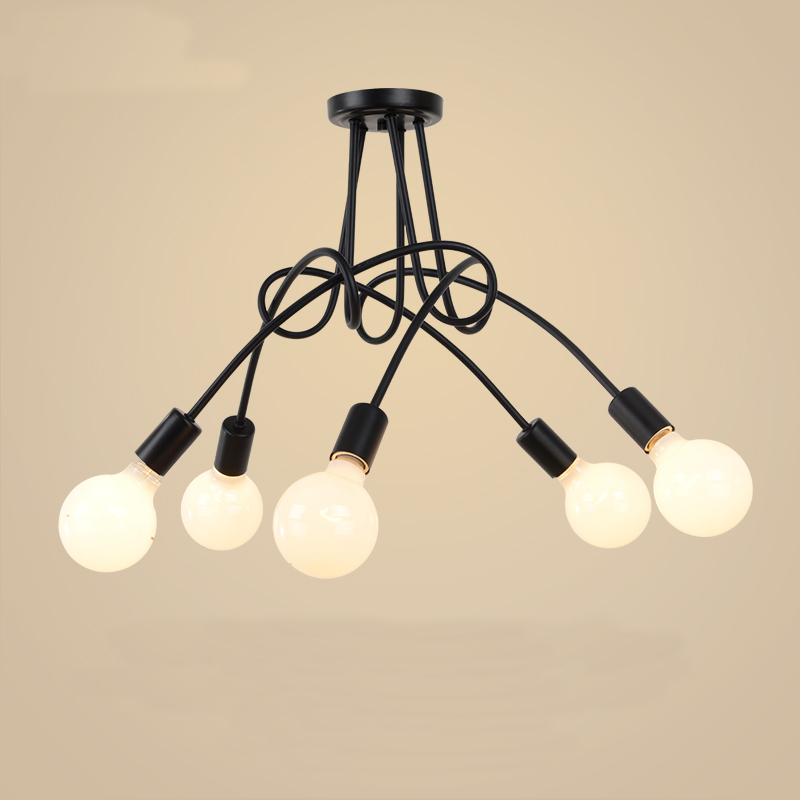 Ceiling Lights Ceiling Lights & Fans Individual Creative Iron Art Led Ceiling Lights Plafond Lamp For Home Living Room Lights Ceiling Light Fixture Kitchen Lamps Relieving Rheumatism And Cold
