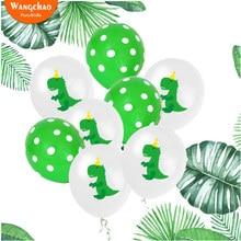 10 шт. 12 дюймов латексные шары Зеленый Динозавр Вечеринка день рождения фон украшения Дети тема вечерние украшения детский душ