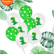 10pcs 12inch Latex Balloons Green Dinosaur Party Birthday Background Decorations Kids Theme Baby Shower