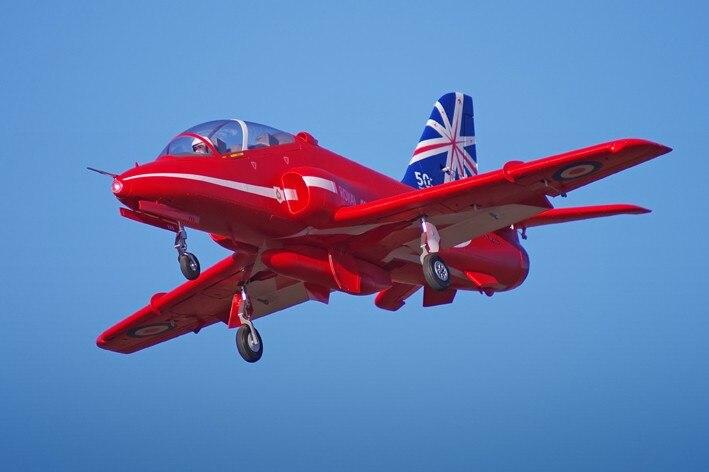 FMS 80mm Bae Hawk Freccia Rossa Ducted Fan EDF Jet 6 s 6CH Con Alette Ritrae EPO PNP RC modello di aereo Hobby Aereo Aereo Avion
