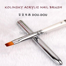1 PCS Kolinsky Acrylic Nail Brush High Quality UV GEL Nail Art Brushes Pen 6 For Gel Nail Polish DIY Drawing