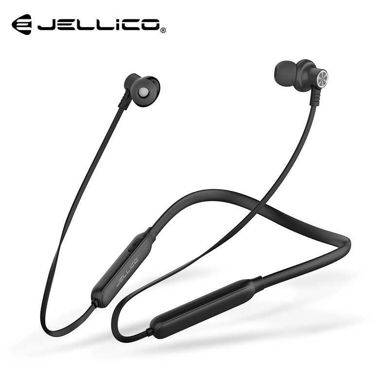Jellico słuchawki Bluetooth bezprzewodowe słuchawki słuchawka dla Iphone Xiaomi huawei słuchawki douszne z pałąkiem na kark Sport zestaw słuchawkowy z mikrofonem Fone de ouvido