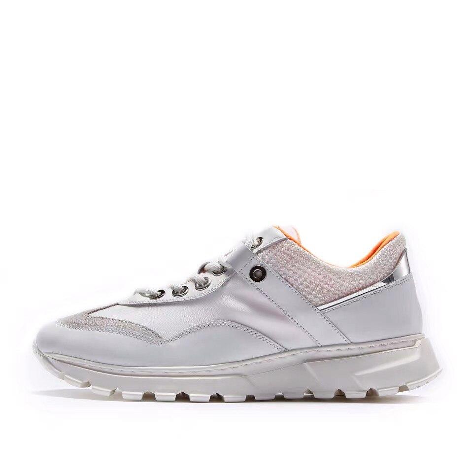 Delivr Wit Sneakers Mannen Unisex Dikke Zool Ademend Gevulkaniseerd Schoenen Masculino Adulto Papa Schoenen Hoge Platform Sneakers Mannen - 2