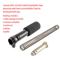 3 types Tactical 5PCS .223 AR 15/M16 Pistol Buffer Tube Mount kit with Fixing Bolt for Airsoft M4 series AEG