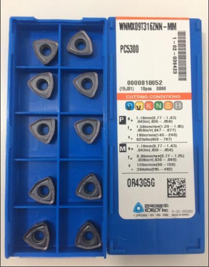 WNMX09T316ZNN MM PC5300 tungsten blade carbide insert turning tool 10pcs lot FREE SHIPPING