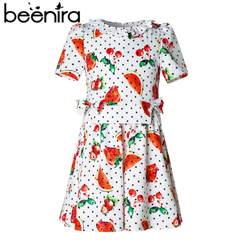 все цены на Beenira Princess Girl Dress 2017 Brand New Watermelon Fruit Printed Kids Dress Girl Clothes European and American Style 4-14Y онлайн
