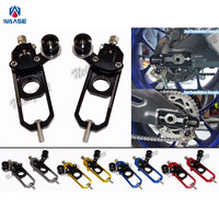 waase Motorcycle Chain Adjusters with Spool Tensioners Catena For Honda CBR600RR CBR 600 RR 2005 2006