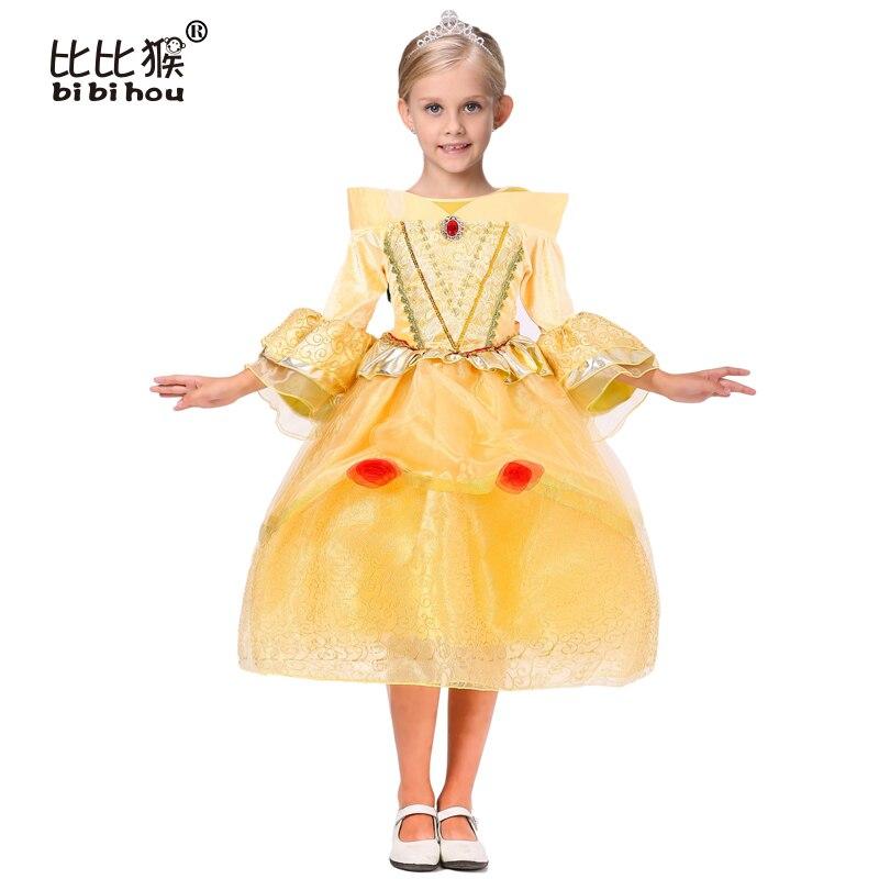 2016 Cinderella Girl Dress Children Snow White Princess sofia Dresses Rapunzel Kids Party dress Halloween Girls Cosplay Costumes tetra tetra decoart plant элодея l anacharis l 30см