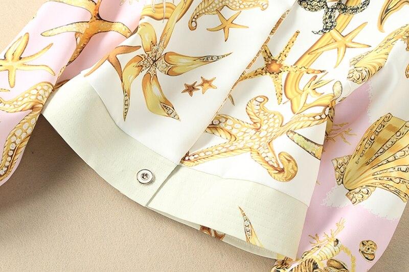 Printemps Dames Européen Col Pantalon Longues 2018 sets Style Courte Twin Turn Nouvelles down Costume Manches Et Veste Impression vIEqxd