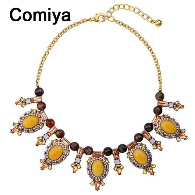 Bijoux femme gold vintage acrylic maxi one direction statement boho chocker necklaces women body chain collares mujer necklace