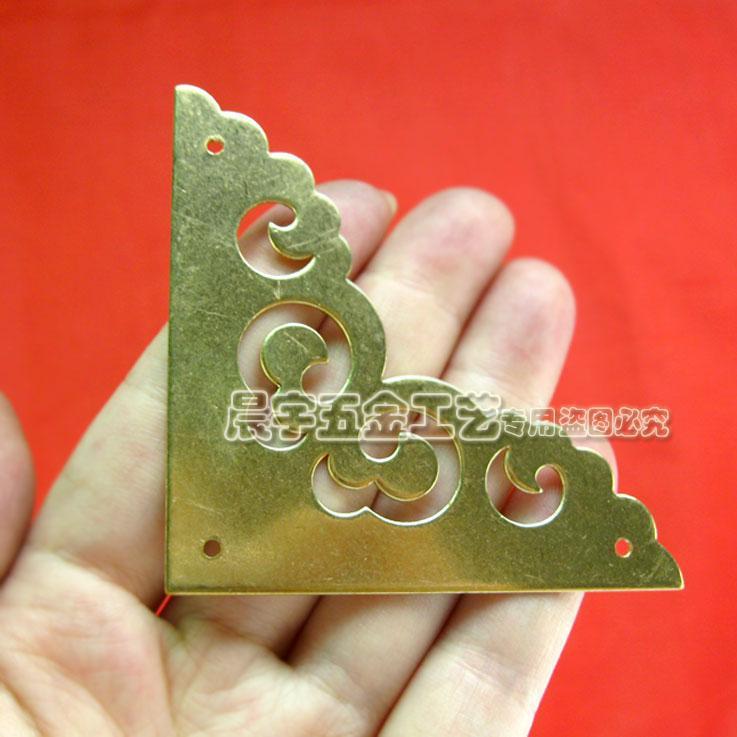 Decorative Box Corner Brass Plated : Wholesale hardware box accessories vintage corner metal