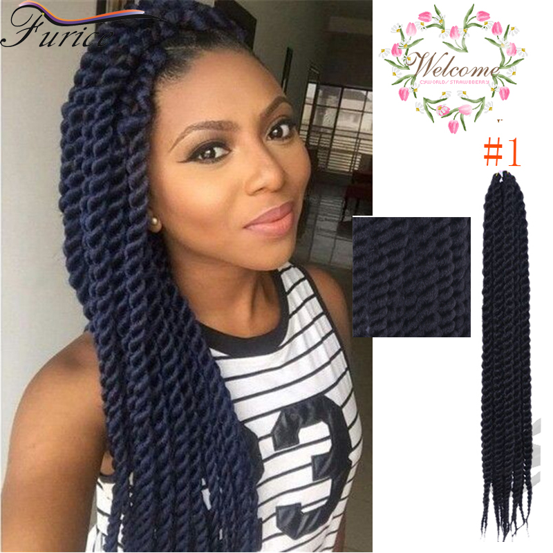 Havana twist crochet hair extensions curly senegalese twist hairstyles synthetic dreadlocks - Crochet braid tresse ...