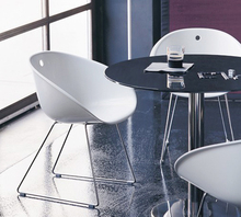Minimalist Modern Design Plastic Acrylic Classic Dining Chair With Metal Leg  Fashion Nice Design Chair Dining